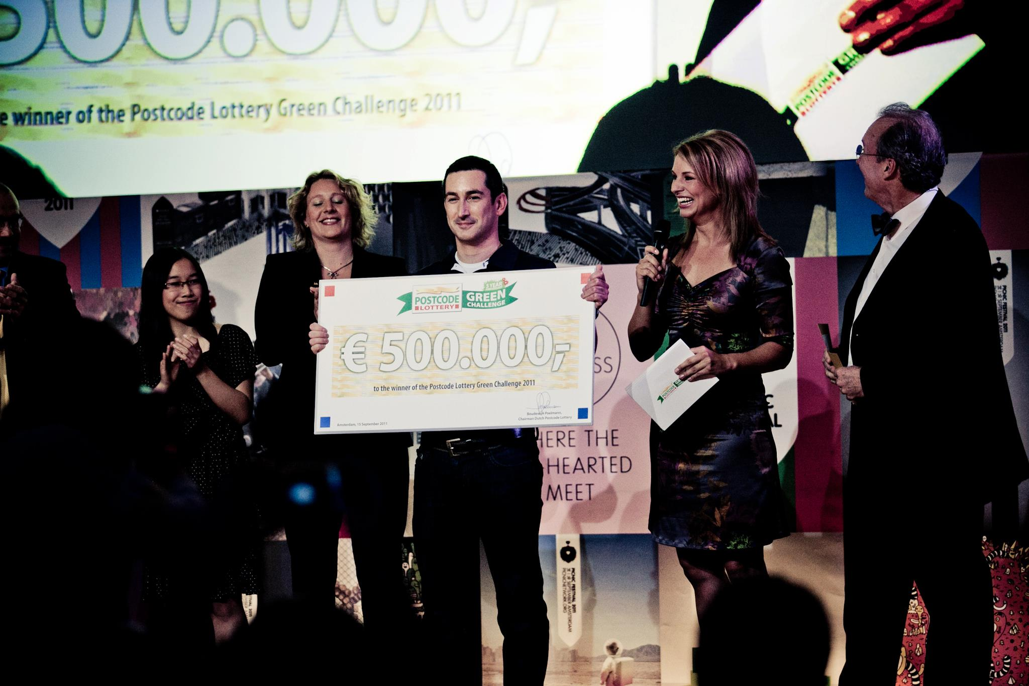 Nick Christy, CINTEP CEO with Green Challenge Winner's Cheque