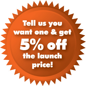 5% off the launch price when you register